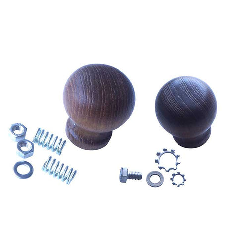 Black Wooden Knobs 2pcs