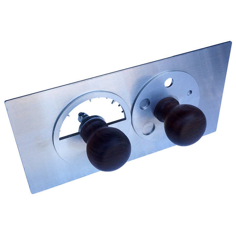 "23"" Ultimate ~ Dual-Dial draft door upgrade - Black Knobs"
