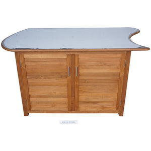 Large 2 Door cabinet w/ SS top DEEP- LEFT 6/5334  in stock - KomodoKamado