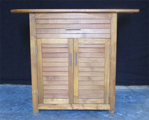 Teak Cabinet w/ 1 drawer, 2 doors - Left