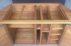 Ex-Large Teak workstation - 2 doors