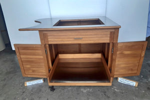 Custom SS and Teak  Cabinet Todd Right Sink