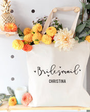 Load image into Gallery viewer, Bridesmaid Personalized Wedding Cotton Canvas Tote Bag