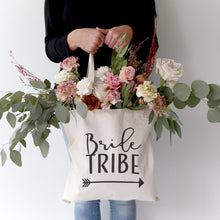 Load image into Gallery viewer, Bride Tribe Wedding Cotton Canvas Tote Bag