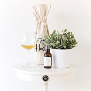 A Toast For the Host Cotton Canvas Wine Bag