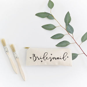 Bridesmaid Cotton Canvas Pencil Case and Travel Pouch