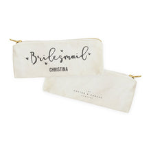 Load image into Gallery viewer, Bridesmaid Personalized Cotton Canvas Pencil Case and Travel Pouch