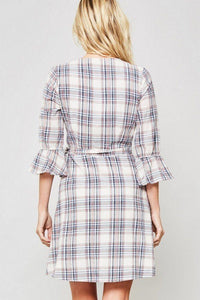 A Plaid Woven Dress