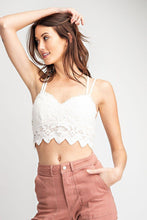 Load image into Gallery viewer, Crochet Laced Bralette Top