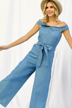 Load image into Gallery viewer, Denim Wide Leg Palazzo Jumpsuit