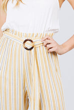 Load image into Gallery viewer, Striped Belted Jumpsuit