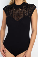 Load image into Gallery viewer, Pointelle Knit Mock Neck Bodysuit