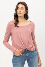 Load image into Gallery viewer, Rayon Span Jersey Front Twisted Top