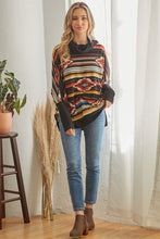 Load image into Gallery viewer, Tribal Patterned Mockneck Longsleeve Top