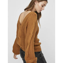 Load image into Gallery viewer, Vero Moda Mallie V Back Cable Sweater