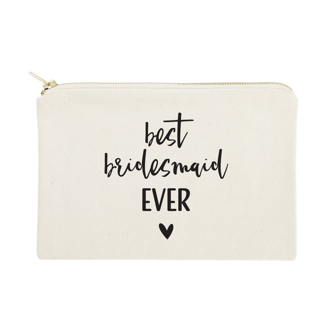 Best Bridesmaid Ever Cotton Canvas Cosmetic Bag
