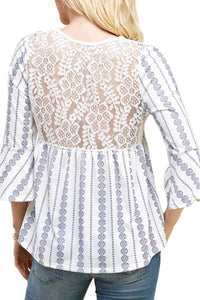 Boho Lace Back Top