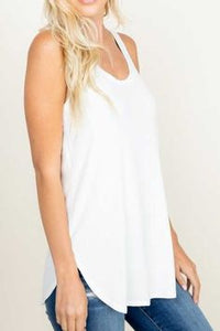Sleeveless Solid Long Tank Top
