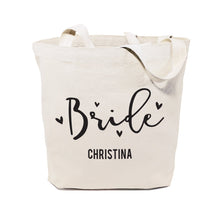 Load image into Gallery viewer, Bride Personalized  Wedding Cotton Canvas Tote Bag