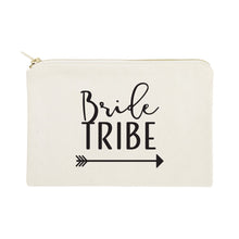 Load image into Gallery viewer, Bride Tribe Cotton Canvas Cosmetic Bag