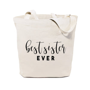 Best Sister Ever Cotton Canvas Tote Bag