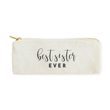 Load image into Gallery viewer, Best Sister Ever Cotton Canvas Pencil Case and Travel Pouch
