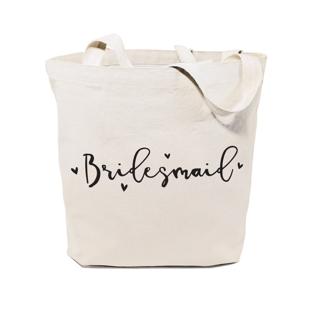 Bridesmaid Wedding Cotton Canvas Tote Bag