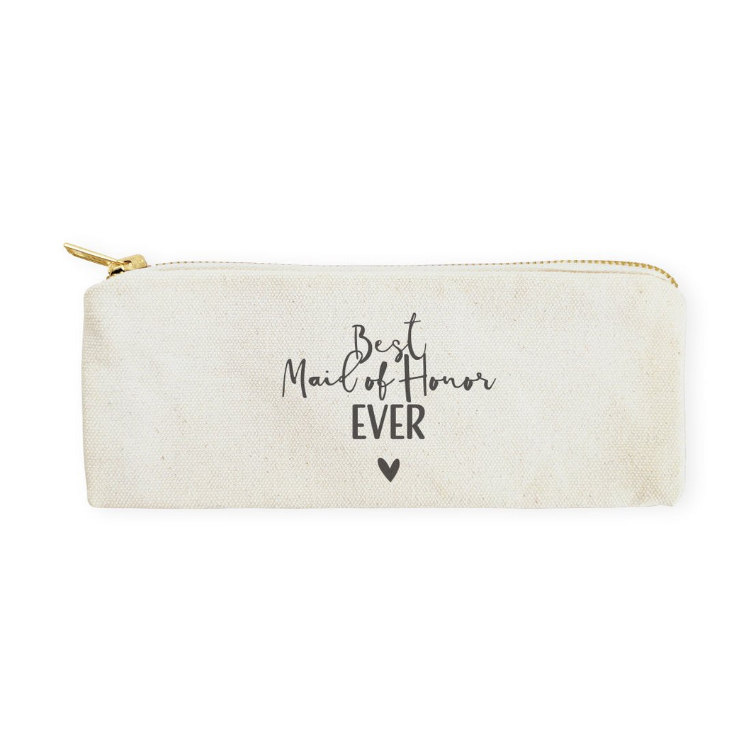 Best Maid of Honor Ever Cotton Canvas Pencil Case and Travel Pouch