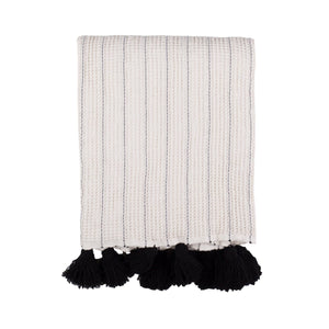 La Pom Pom Throw Blanket