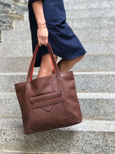 Load image into Gallery viewer, Borough Vegan Leather Tote