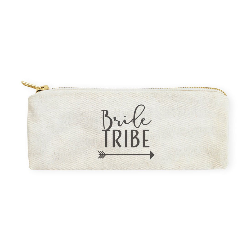 Bride Tribe Cotton Canvas Pencil Case and Travel Pouch