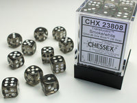 Chessex Dice - 12mm d6 - Translucent - Smoke/White CHX23808