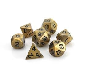 Die Hard Metal Dice - Polyhedral - Battleworn Gold/Black