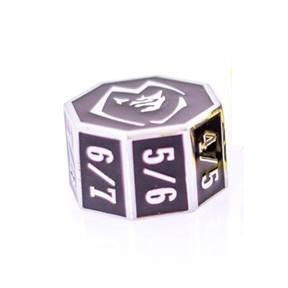 Die Hard Metal Dice - Goyf Counter - Gothica Shiny Silver/Black
