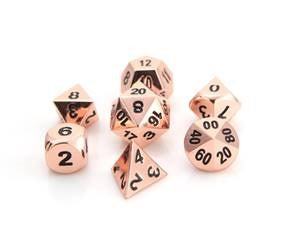 Die Hard Metal Dice - Polyhedral - Shiny Copper/Black