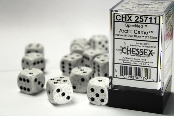 Chessex Dice - 16mm d6 - Speckled - Arctic Camo CHX25711