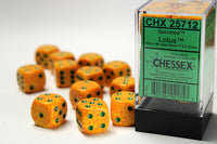 Chessex Dice - 16mm d6 - Speckled - Lotus CHX25712
