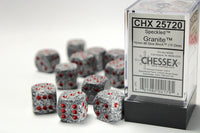 Chessex Dice - 16mm d6 - Speckled - Granite CHX25720