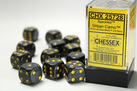 Chessex Dice - 16mm d6 - Speckled - Urban Camo CHX25728