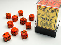 Chessex Dice - 12mm d6 - Speckled - Fire CHX25903