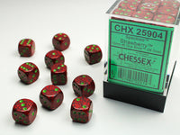 Chessex Dice - 12mm d6 - Speckled - Strawberry CHX25904