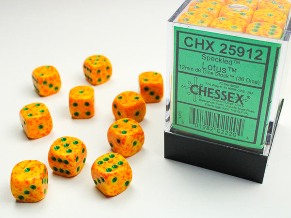 Chessex Dice - 12mm d6 - Speckled - Lotus CHX25912