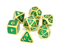 Die Hard Metal Dice - Polyhedral - Mythica Satin Gold Emerald