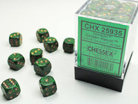 Chessex Dice - 12mm d6 - Speckled - Golden Recon CHX25935