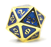 Die Hard Metal Dice - 25mm d20 - Mythica Gold Sapphire