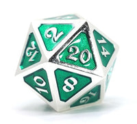 Die Hard Metal Dice - 25mm d20 - Mythica Platinum Emerald