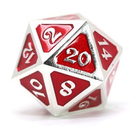 Die Hard Metal Dice - 25mm d20 - Mythica Platinum Ruby