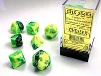 Chessex Dice - Polyhedral - Gemini - Green-Yellow/Silver CHX26454