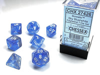 Chessex Dice - Polyhedral - Borealis - Sky Blue w/White CHX27426