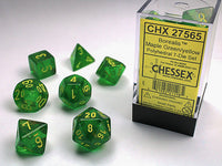 Chessex Dice - Polyhedral - Borealis - Maple Green/Yellow CHX27565